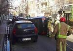 واژگونی خودروی سواری در نارمک
