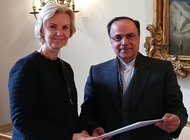 Iran's new ambassador to Sweden submits credentials
