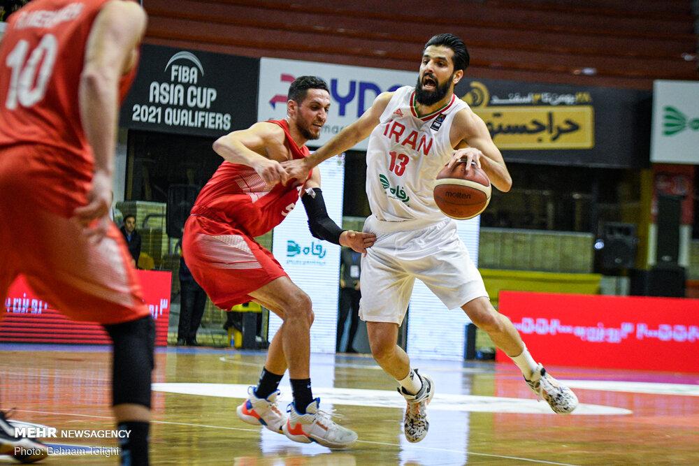 دیدار تیم ملی بسکتبال ایران و سوریه