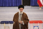 Islamic Revolution Leader casts his vote in ballot box