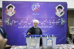 Senior Iranian officials cast vote in ballot box