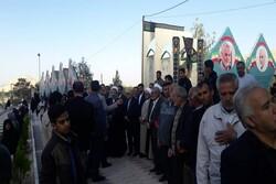 لشکر سلیمانی پای صندوق های رای/ حضور گسترده مردم در گلزار شهدا