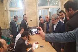 کدخدایی از شعبه انتخاباتی مسجد لرزاده بازدید کرد