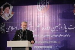 لاريجاني: الشعب الايراني تجاوز بفخر العديد من الازمات بالاستفادة من الفرص المتاحة