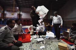 Vote counting in Hamedan