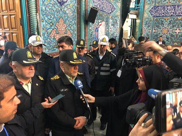 سردار رحیمی: نیروی انتظامی برای امنیت کامل انتخابات تلاش می کند