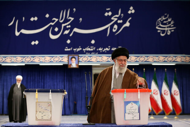 Leader of Islamic Republic castes votes in parliamentary, Assembly of Experts polls