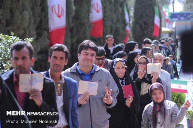 VIDEO: Massive turnout of Iranian people in parliamentary polls