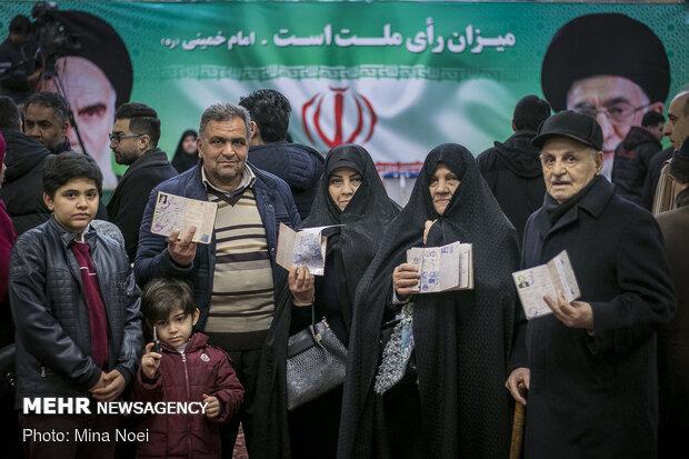 حضور خانوادگی در جشن ملی انتخابات