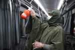 Kum'da toplu taşıma araçları koronavirüse karşı dezenfekte ediliyor