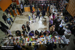 People visit the 32nd Tehran International Book Fair at the Imam Khomeini Mosalla on April 28, 2019. (Mehr/Majid Asgaripur)