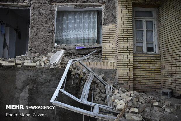 خسارات زمین لرزه خوی