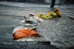 وضعیت عجیب بازار قدیمی شهرستان مرند هنگام بارش باران