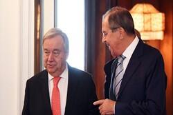 گوترش و لاوروف روز چهارشنبه در مسکو دیدار خواهند کرد