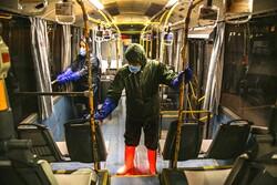 Public transportation fleet in Bojdnourd  disinfected amid coronavirus anxiety