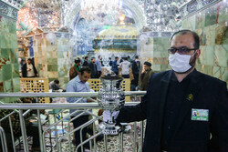 Disinfection of different parts of Holy Shrine of Hazrat Masoumeh (BPUH) amid 'coronavirus' anxiety