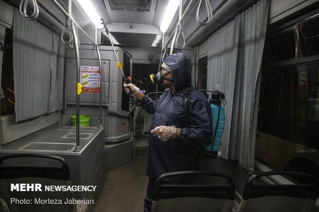 İran'da koronavirüsüne karşı dezenfeksiyon çalışmaları devam ediyor