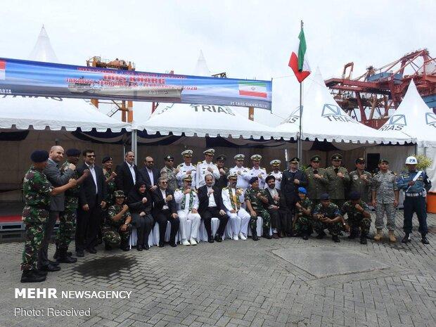 Iranian naval flotilla docking at Jakarta port of Indonesia