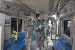 Disinfecting public transportation fleet in Tehran