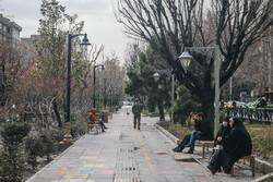 تہران میں بارش کے بعد ہوا صاف ہوگئی