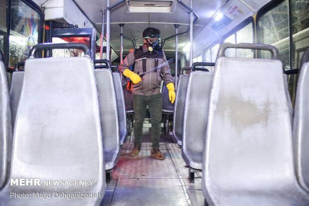 ضدعفونی ناوگان حمل و نقل عمومی شهر یزد
