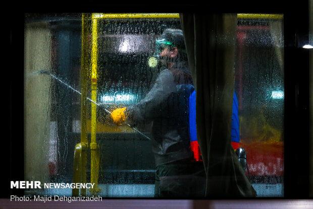 پایانه های مسافربری شهر سنندج ضدعفونی شدند