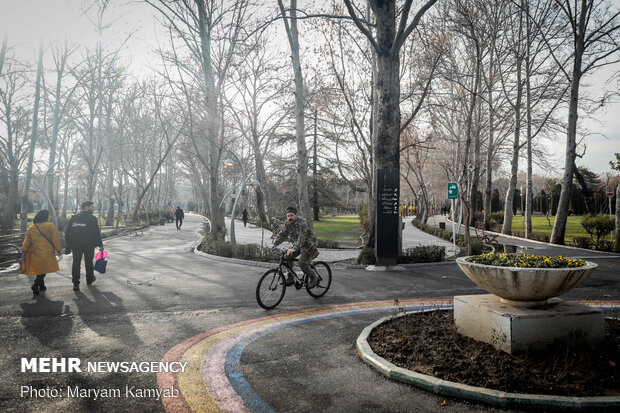 تهران پس از بارش باران