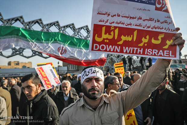 Tehraners hold rally to commemorate Dey 9 epic