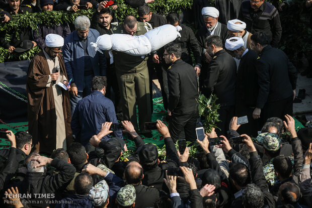 Funeral of an unidentified martyr in Navy's town