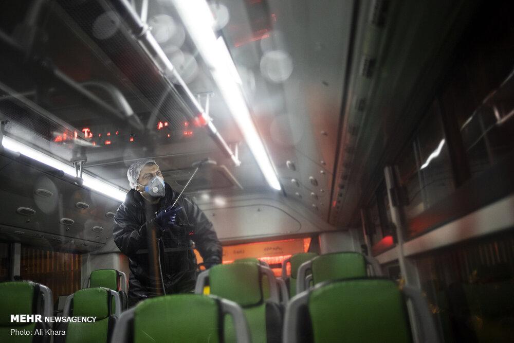 ضد عفونی ناوگان حمل و نقل عمومی در تهران