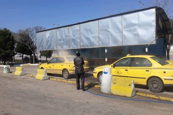 تاکسیها و اتوبوس های عمومی شهرستان البرز ضدعفونی میشوند