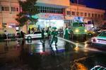 عملیات ضدعفونی اطراف بیمارستان کامکار قم