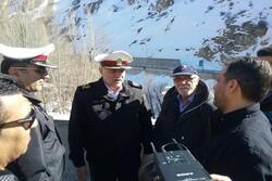 بازدید رئیس پلیس راهور ناجا از وضعیت ایمنی آزادراه تهران – شمال