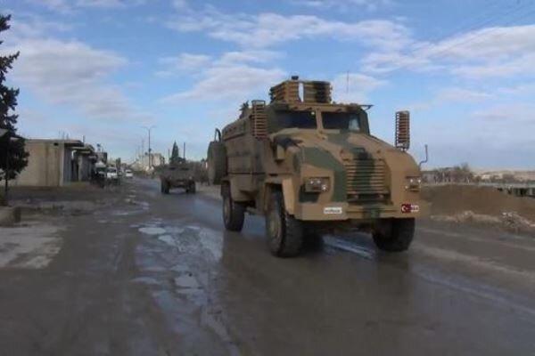 حمله ارتش ترکیه به کاروان نیروهای نظامی سوریه در ادلب