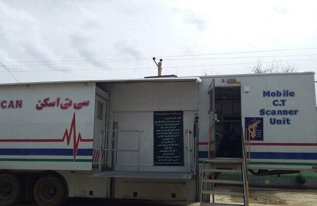 سامانه سی تی اسکن سیار در بیمارستان یافت آباد تهران مستقر شد