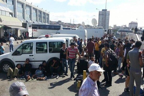 Avrupa'ya gitmek isteyen sığınmacılar Esenler Otogarı'na akın etti