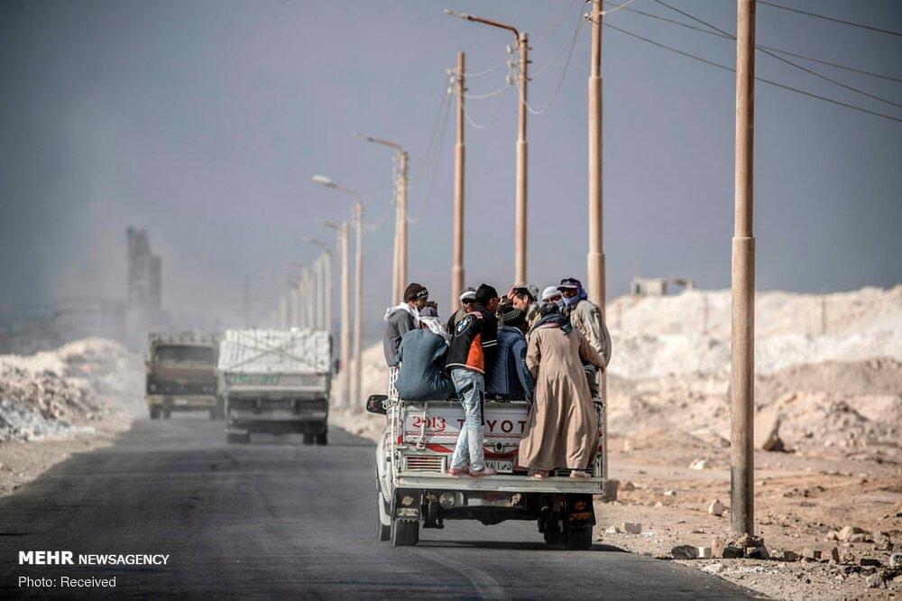 کار در معدن سنگ آهک مصر