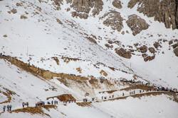 بارش برف در گردنههای استان قزوین اغاز شد