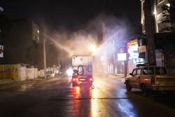 Hygienic measures to disinfect Ahvaz public places