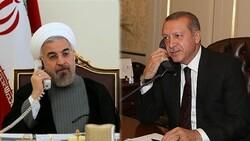Erdogan Rouhani phone talks