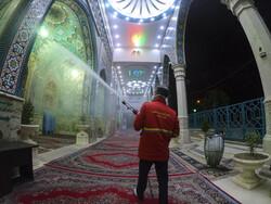 Disinfecting public, religious places in Gorgan
