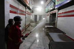 ضدعفونی کردن خیابانهای شهر همدان برای مقابله با کرونا