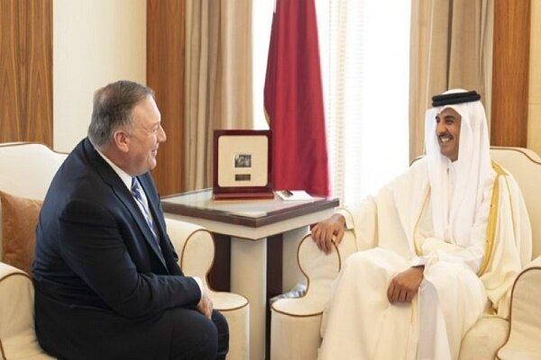 امریکی وزیر خارجہ کی امیر قطر سے ملاقات