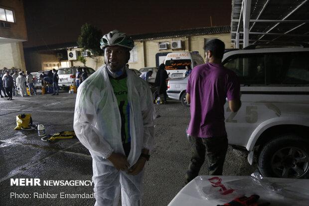 المتطوعون في بندر عباس لتعقيم الاماكن العامة