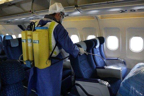 کمبود امکانات برای ضدعفونی کردن هواپیماها واقعیت ندارد
