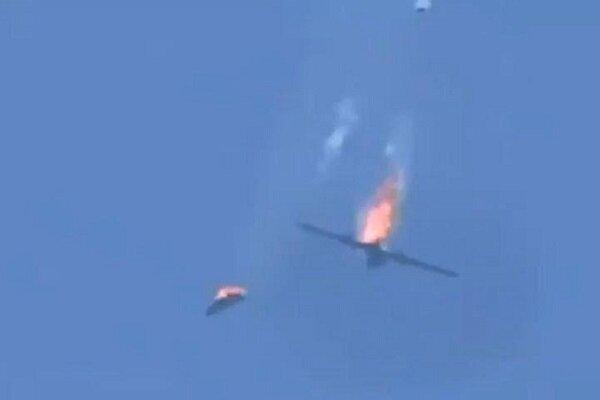 فيديو الطائرة التركية المسيرة التي تم إسقاطها فوق مدينة سراقب