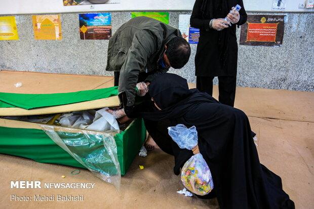 تشییع پیکر ۱۱ شهید مدافع حرم در قم