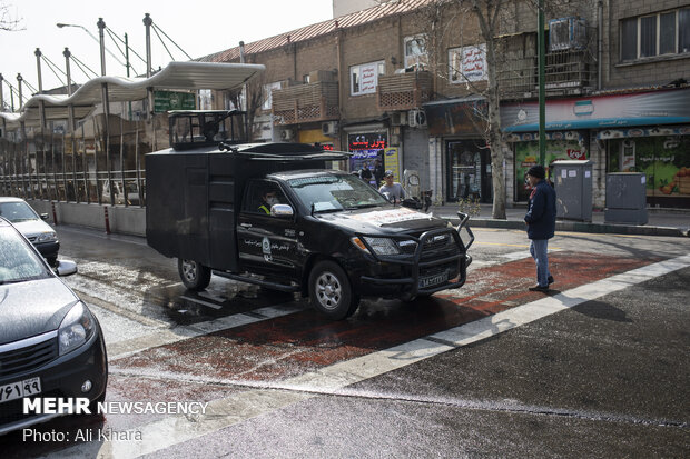 Police special forces are suppressing 'COVID-19' in Tehran