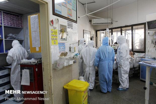 """القسم الخاص للمصابين بفيروس كورونا في مستشفى """"5 آذر """"بجرجان"""