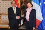 دیدار وزیر دفاع فرانسه با رئیسجمهوری مصر